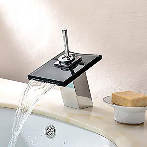 LG Snow Kreative Moderne Silber Waschbecken Wasserhahn - Wasserfall Einlochmontage/Einhand-Wasserhahn