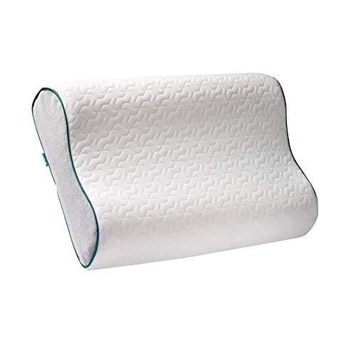 Bedsure Contour Memory Foam Pillow,Adjustable Pillow for Seelping,Ergonomic Cervical Pillows for Neck Pain, Neck Support for Back, Bed Pillows with Washable Bamboo Cover-Standard Size