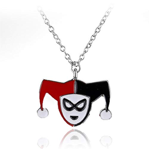 chenran Accesorios El Regalo de Steampunk Collar Collar Largo Rojo Negro Y Regalo (Metal Color : Harley Quinn)