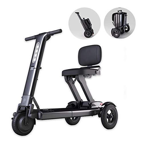 N/Z Life Equipment - Patinete eléctrico de Movilidad Plegable para Adultos y Personas Mayores, Ligero, de Largo Alcance, con 3 Ruedas, Patinete eléctrico, Silla de Ruedas (Negro)