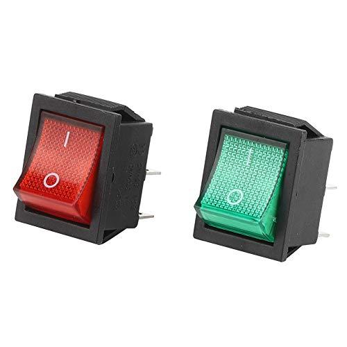 Interruptor basculante de 4 pines 5 piezas para el hogar y la industria con luz roja