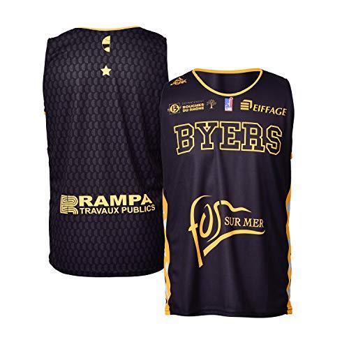 FOS Provence Basket Fos Provence - Camiseta de Baloncesto para niño, Niño, Color Negro, tamaño FR : XXS (Taille Fabricant : 6 ANS)