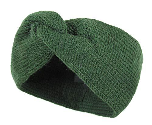 McRon Damen Gestricktes Stirnband Schleife Getwistet Meera (moosgrün)