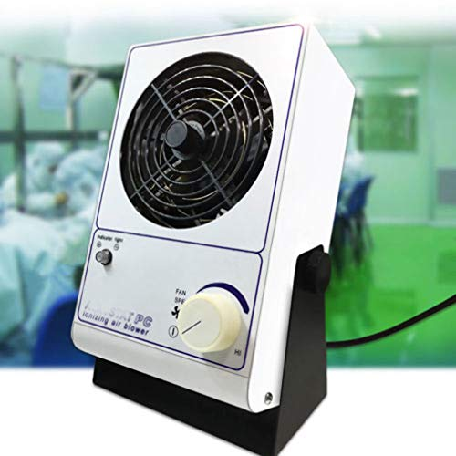 Ionizing Air Blower Fan Anti Electrostatic Ion Blower Anti-Static Ionizer ESD Static Electricity Electrostatic Elimination Eliminator Fan 110V