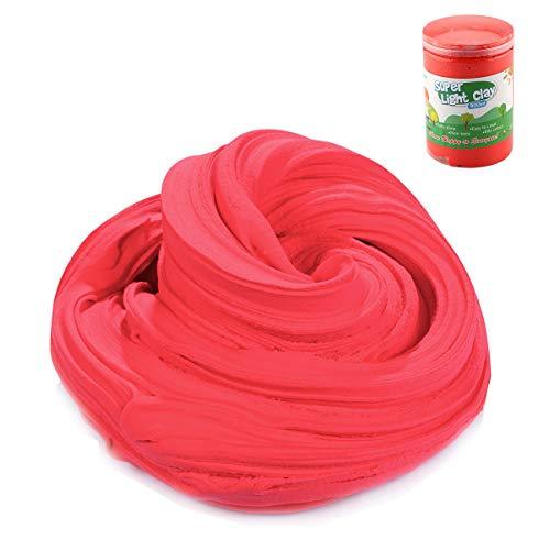 Luclay Fluffy Slime Stress Sollievo Giocattoli DIY Morbido profumato Sollievo dallo Toy per Bambini e Adulti (Rosso)