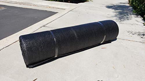 "WindscreenSupplyCo 5'8"" X 100 ft. Black Shade Fabric Roll Sunblock Shade Cloth, 85% UV Resistant Mesh Netting Cover"