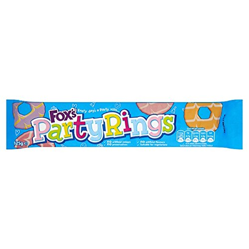 Fox's Party Rings 125g (Pack of 12 x 125g)