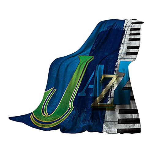 Soft Flannel Blanket with Piano Keys