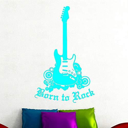Ajcwhml Pegatinas de Pared Autoadhesivas para Guitarra eléctrica Sala de Estar niño Dormitorio decoración de Fondo Pegatinas de Pared Desmontables 蓝色 43cm X 69cm