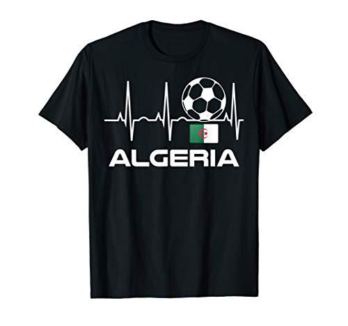 Algerien Fußball-Trikot Algerisches Fußballspieler-Geschenk T-Shirt
