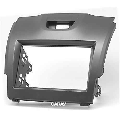 Carav 11-292 Double Din Car Dash Installation Kit Radio Stereo Face Facia Fascia Panel Frame DVD Dash Stereo Install Kit for Chevrolet Trailblazer S-10 Isuzu D-Max MU-X Holden with 17398mm 178100mm