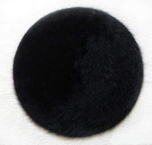 WAZHX Artista Clásico Boina De Moda De Invierno Sombrero De Boina De Conejo para Mujer Elegante Pintor Sombreros De Vendedor De Periódicos OneSize Black