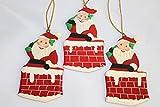 Rumikrafts Weihnachtsmannfiguren aus Pappmaché, handgefertigt, 3 Stück - 4