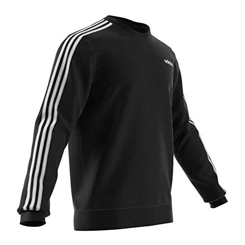 adidas E 3s Crew Ft Sudadera, Hombre, Negro (Black/White), M