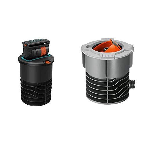 Gardena Versenk-Viereckregner OS 140: Bewässerungssystem für Flächen bis max 140 m² & Sprinklersystem Anschlussdose: Systemanfang von Pipeline und Sprinklersystem, mit 3/4 Zoll-Außengewinde Anschluss