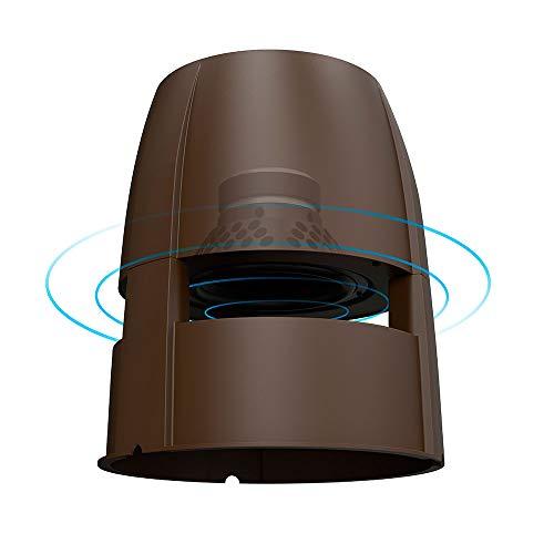 "OSD Audio FORZA-850 200W 8"" Weatherproof Architectural Outdoor In Ground Omni Speaker, Antique Bronze Cabinet"