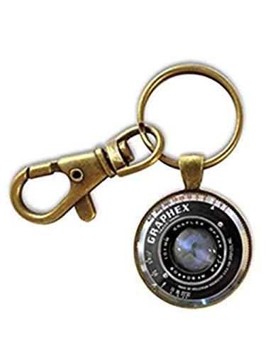Heng Yuan Schlüsselanhänger, Kamera-Schlüsselanhänger, Fotografie-Geschenk, Kameraobjektiv, Schmuck