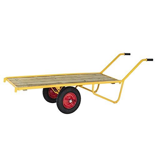 Schwerlastwagen Plattformkarren 2.800 x 608 x 700 mm,Traglast: 500 kg - gelb