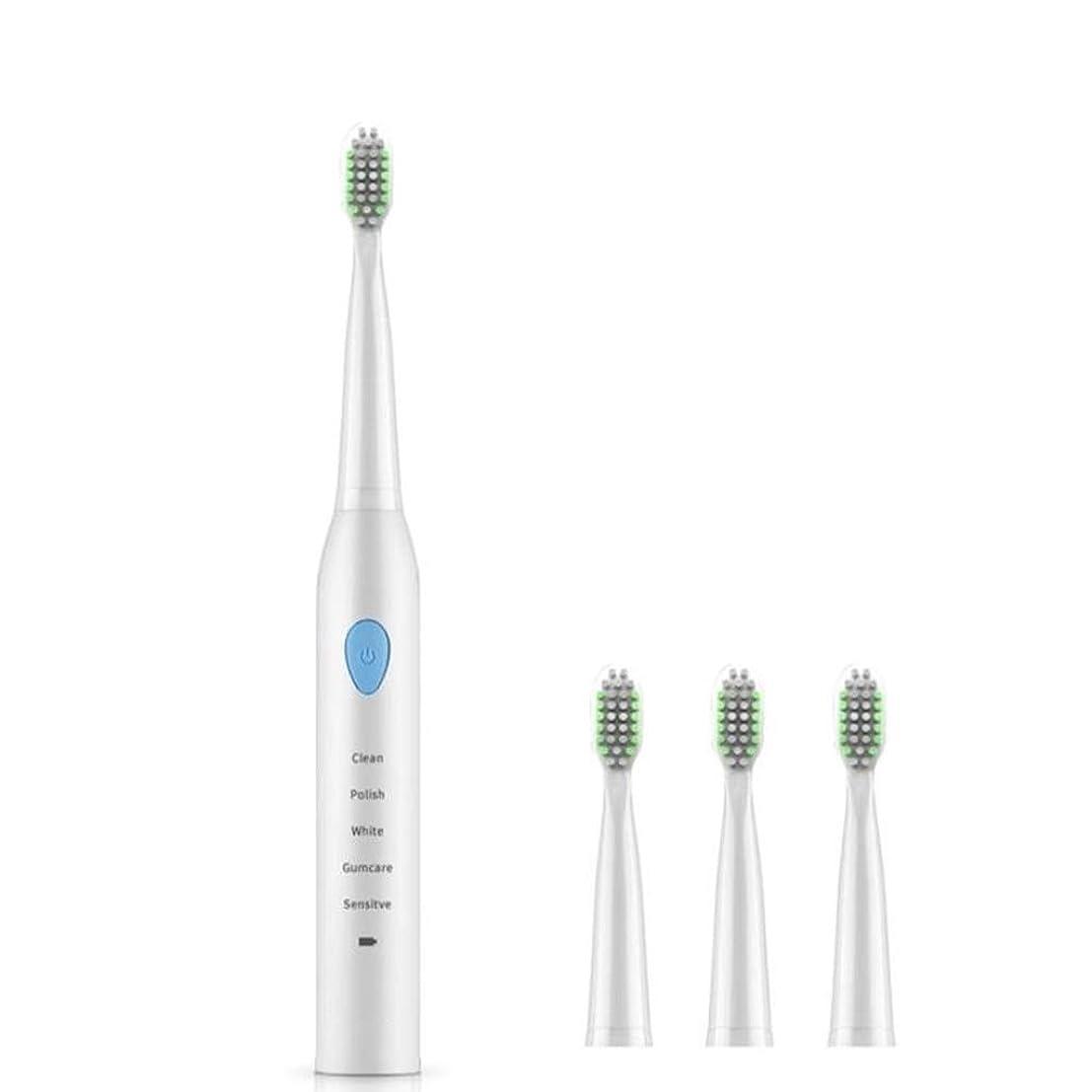 ゴム喜びはげ自動電動歯ブラシ、高齢者用充電式歯ブラシ、ディープクレンジング、新鮮な息 (色 : A)