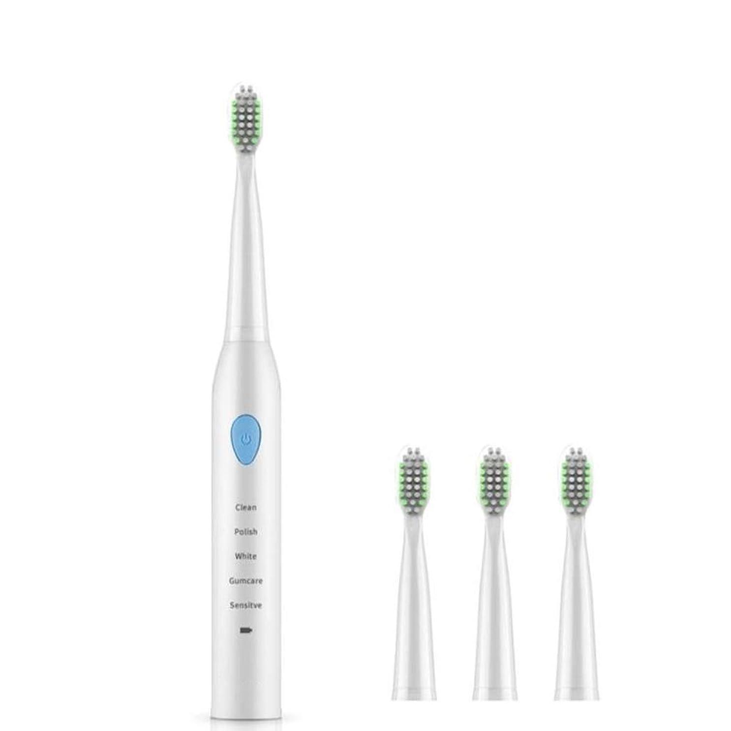 賃金欠陥ミュート自動電動歯ブラシ、高齢者用充電式歯ブラシ、ディープクレンジング、新鮮な息 (色 : A)