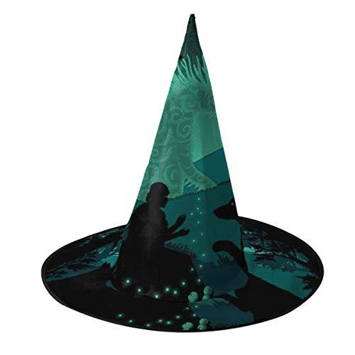 Sombrero de Halloween Princesa Mononoke Moradores del Bosque Sombrero de Bruja Halloween Disfraz Unisex para Vacaciones Halloween Navidad Fiesta de carnavales