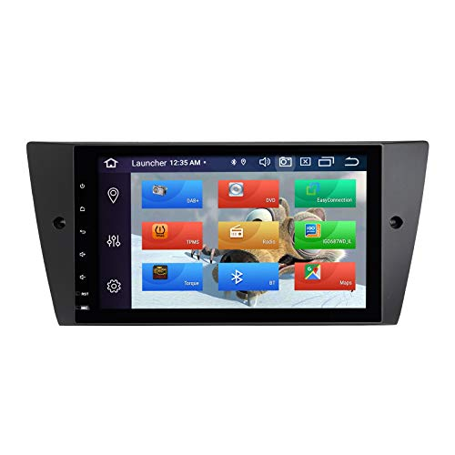 ZLTOOPAI Auto-Multimedia-Player für BMW E90 E91 E92 E93 Android 10 Octa Core 4G RAM 64G ROM 9 Zoll IPS Bildschirm Doppel DIN In Armaturenbrett Autoradio Audio Stereo GPS Navigation