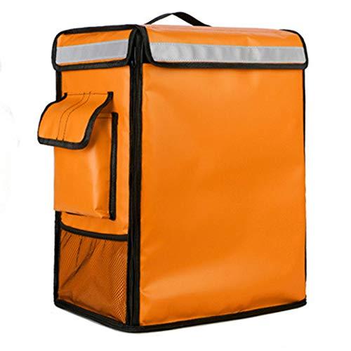 TTXP Bolsa Refrigeradora Extra Grande de 42L para Coche, Bolsa Térmica para Comida Fresca con Aislamiento de Hielo, Bolsa para Pizza, Contenedor de Entrega, Bolsa para Nevera,Orange