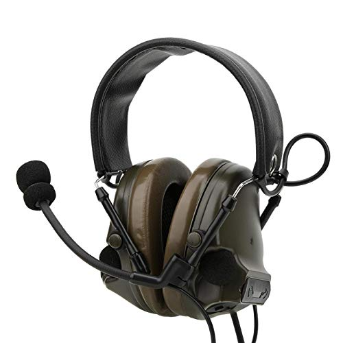 FOLOSAFENAR Proteja los oídos Auriculares con micrófono a Prueba de Agua Material...