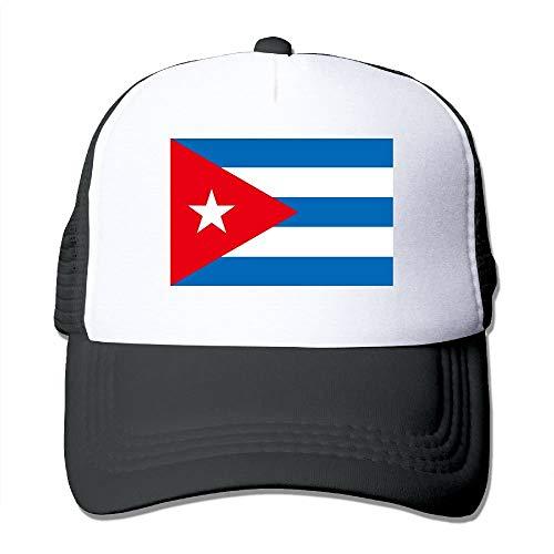 Gorras de béisbol Bandera de Cuba Gorras de Malla Sombrero Camionero Sombrero Ajustable, Unisex, Un tamaño