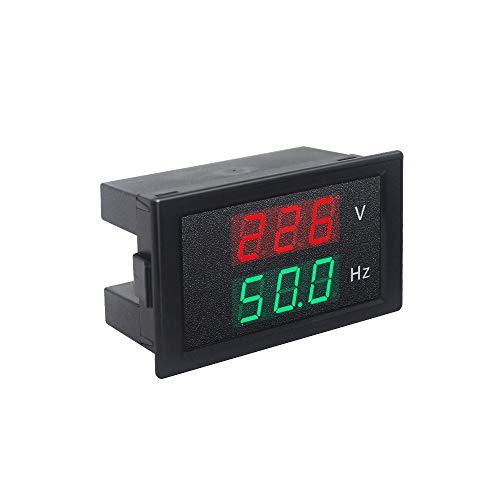 KETOTEK Voltimetro Frecuencimetro Digital AC 220V 80-300V 45.0-65.0Hz Medidor de Voltaje Frecuencia Hz Pantalla LED