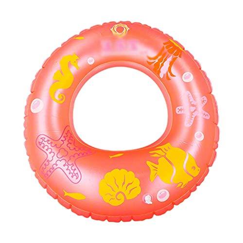 Gcxzb Schwimmreifen Aufblasbarer Ring schwimmring aufblasbare Dicke Erwachsene Kinder Schwimmen Ring Baby Lernen Schwimmen ausrüstung Lifebuoy süß (Color : Pink, Size : S)