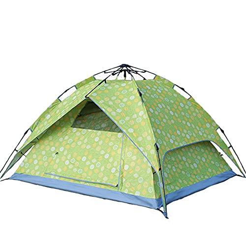 DSGTR acampar al aire libre suministros portátil 2-3 personas doble capa automática rápida apertura impermeable protector solar tienda de campaña