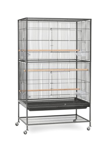 Prevue Pet Products Wrought Iron Flight Cage with Stand F040 Black Bird Cage