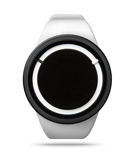 ZIIIRO Eclipse Snow White Unisex Uhr mit Swiss Super-LumiNova®