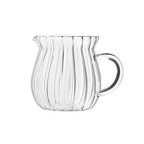 Jarra de leche pequeña Tetera de cristal resistente al hogar Tetera Daily...