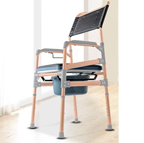 Schwanger Damen Toilette Stuhl Zum Das Behindert Zu Erhöhen,Ansteigen Rollstuhl Pflege Bad Stuhl Rutschfeste Und Wasserdicht/Golden / A3