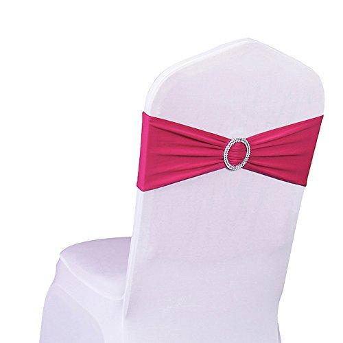 SINSSOWL 100 bandas elásticas de licra para sillas de bodas, fiestas, decoración...