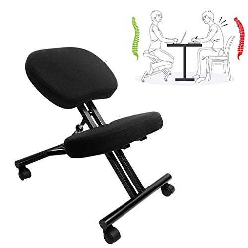 LIfav Kneeling Chair Ergonomic, Adjustable Bench, Suitable for Home and Office Spine Correction Learning Chair, for Home and Office, Best Gift