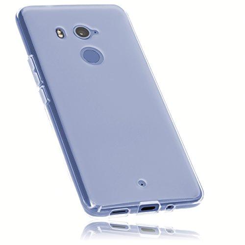 mumbi Hülle kompatibel mit HTC U11 Plus Handy Hülle Handyhülle, transparent weiss