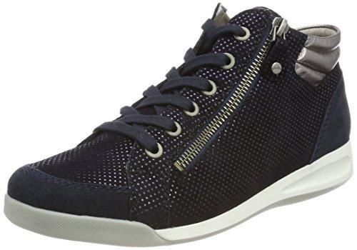 ARA Damen Rom Hohe Sneaker, Schwarz (Blau, Midnight/street), 37.5 EU (4.5 UK)