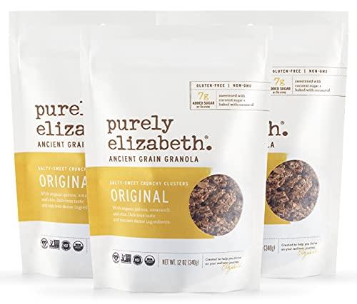 Purely Elizabeth, Original, Ancient Grain Granola, Organic, Vegan, Gluten-Free, non-GMO, 12oz (3 ct.)