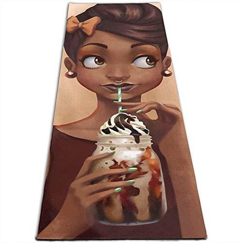Afro Girl Afro-Amerikaanse ijsmat, voor thuis, indoor en yoga