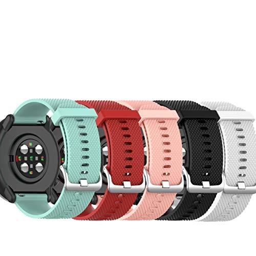 Ruentech Correa compatible con reloj inteligente Polar Ignite GPS Sport Smartwatch pulsera accesorios (pequeño, 5 a colores)