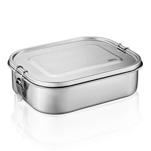 GEFU 12735 Lunchbox ENDURE, Edelstahl, Brotdose für Kinder und Erwachsene, dicht, groß,1.4 Liter