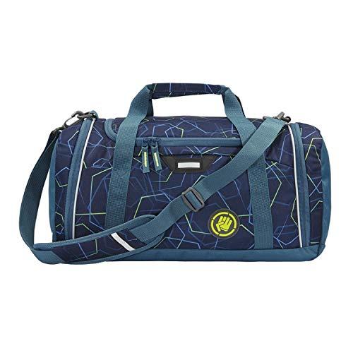 """Coocazoo Sporttasche SporterPorter """"Laserbeam Blue"""", blau, Nasswäschefach, Seitentasche, Schuhfach, Abnehmbarer, Verstellbarer Schultergurt, für Jungen ab der 5. Klasse, 20 Liter"""