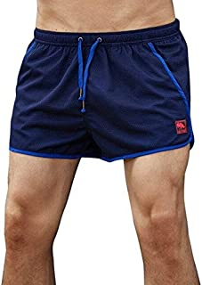 BEESCLOVER Men Mesh Patchwork Beach Shorts Running Sports Shorts Gym Shorts Men Breathable Trunks Exercise Shorts