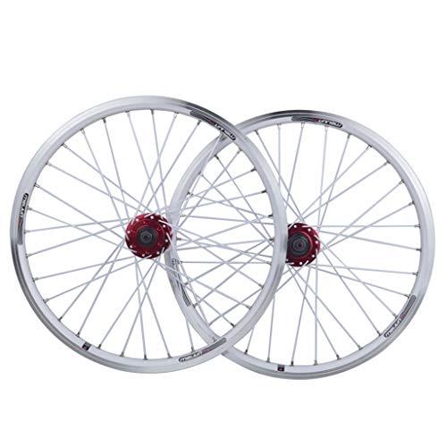 Sellado De 26 Pulgadas De Bicicletas De Ruedas De Aleación De Aluminio MTB Cycling Wheels V-Disco De Freno Aro Freno Cojinetes 11 Velocidad Hybrid Touring Bike Deportes (Color : White)