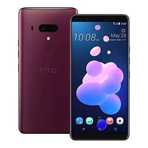 HTC U12+ Smartphone ohne SIM-Karte – 128 GB, 6 GB RAM Hauptteil 12MP+16MP Front 8MP+8MP (6GB+128GB, Flame Red1)