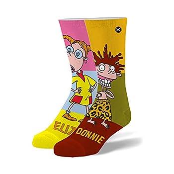 Odd Sox Nickelodeon Wild Thornberry s Eliza & Donnie Novelty Crew Socks 90 s