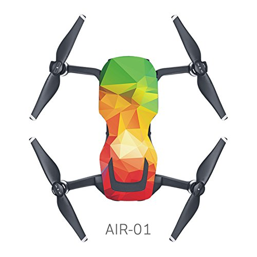 MoreToys Waterproof Battery Decal Remote Controller Skin Wrap Decorative Sticker Decal Skin Full Set Drone Body Sticker for DJI Mavic Air Quadcopter Drone (K)